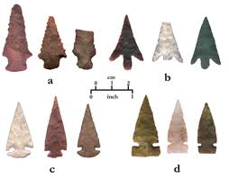 Traditional Flint Stone Arrow Points