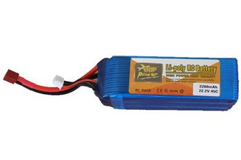 Picture of 2200mAh 22.2V 45C LiPo RC Battery