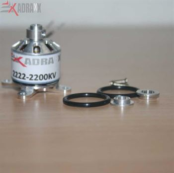 Picture of 2220 BL motor/2200KV, with Accessories