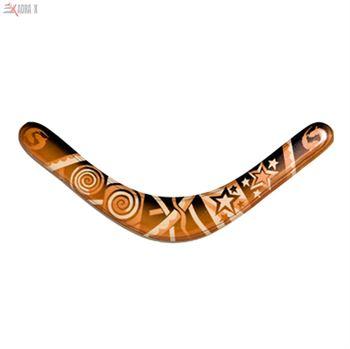 Picture of Kookaburra Authentic Aboriginal Traditional Boomerang (Left)
