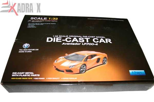 1 32 Real Scale Die Cast Lamborghini Avantador Pull Back Model Toy Car