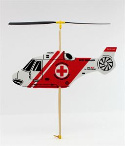 Picture of Guilows Rubber Powered Red Foam Helicopter Model