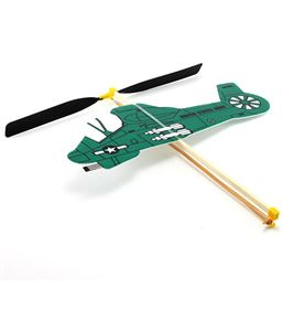 Picture of Guilows Rubber Powered Green Foam Helicopter Model