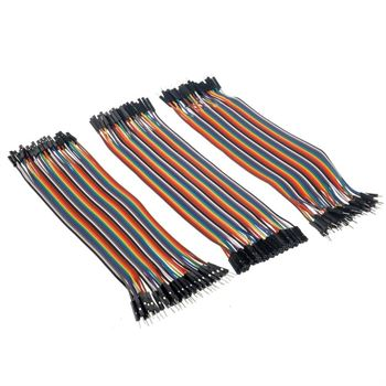 Picture of Adraxx Male to Male, Female to Female, Male to Female Jumper Wires Kit 40 Pcs Each