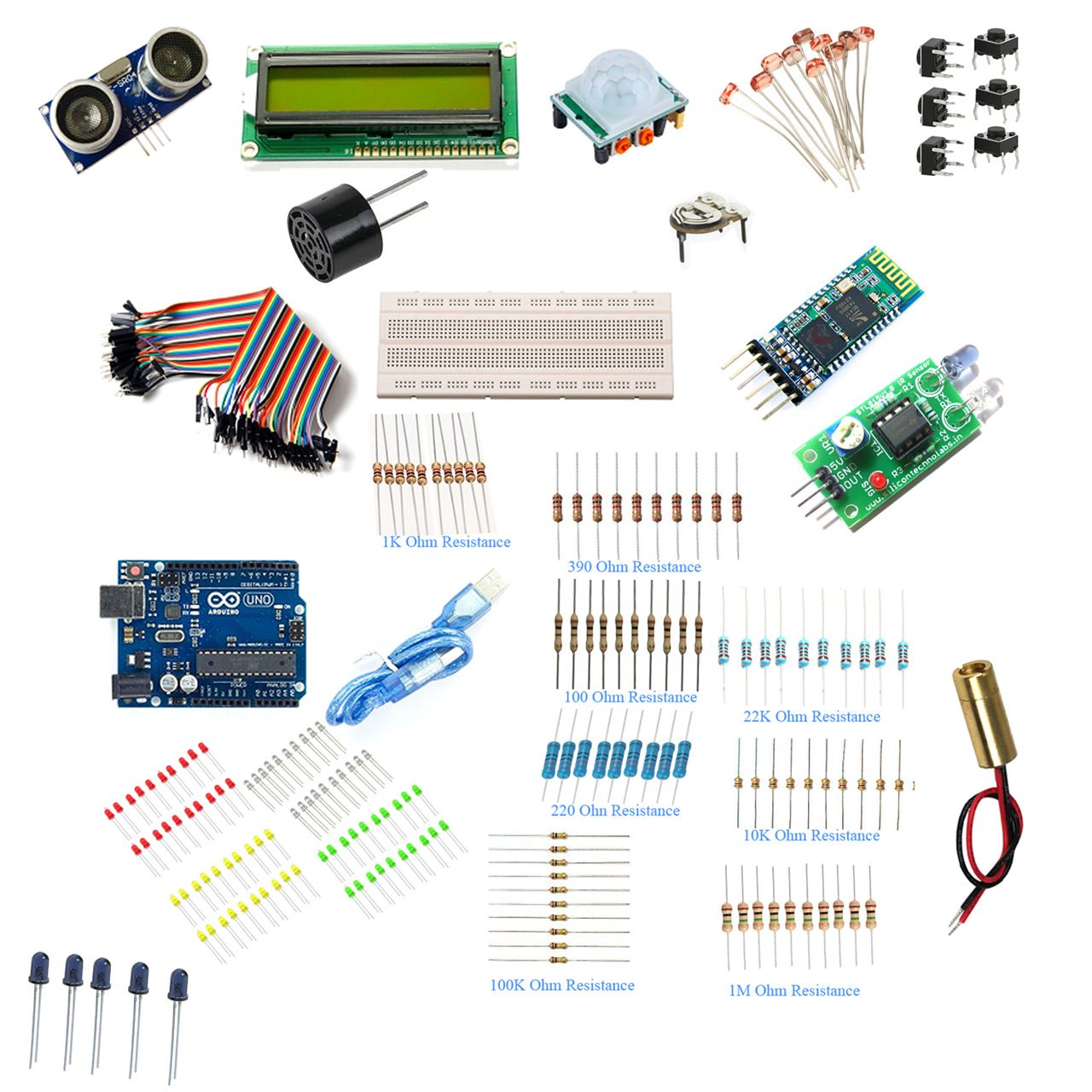 Adraxx Electronic Component Project Kit Electronics Circuits Projects Kits Hobby More