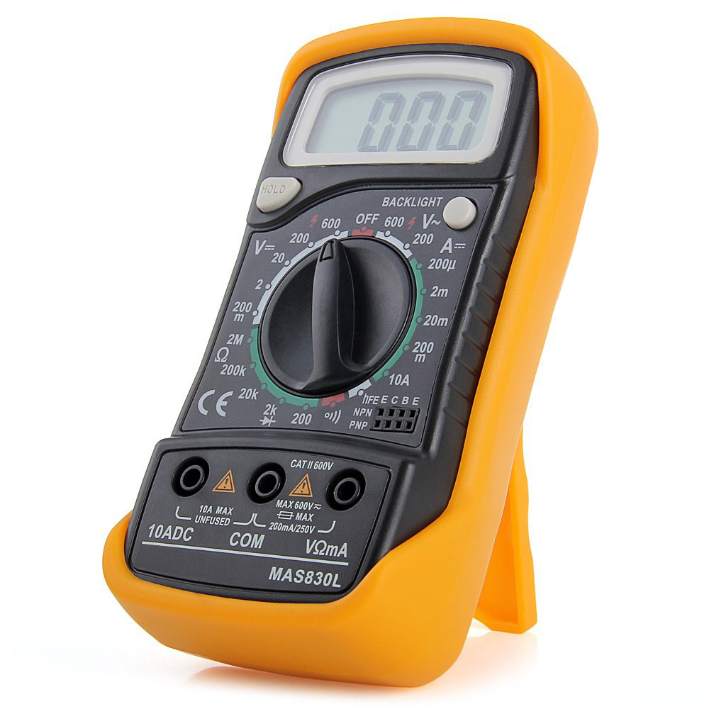Digital Multi Meter : Digital multimeter mas l blue backlight hold button