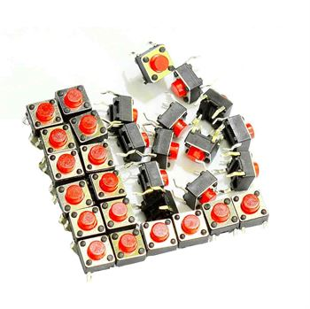 Picture of Adraxx Tactile Micro Switch - Push to ON button (40 Pcs)