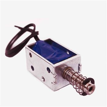 Picture of DC 12V Open Frame Linear push-pull solenoid Electromagnet