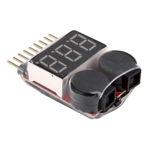 Picture of 1-8S LiPo Battery Voltage Tester Low Volt Alarm Buzzer and LED