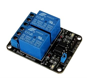 Picture of Adraxx 5V Two 2 Channel Relay Module With Optocoupler For PIC AVR DSP ARM Arduino