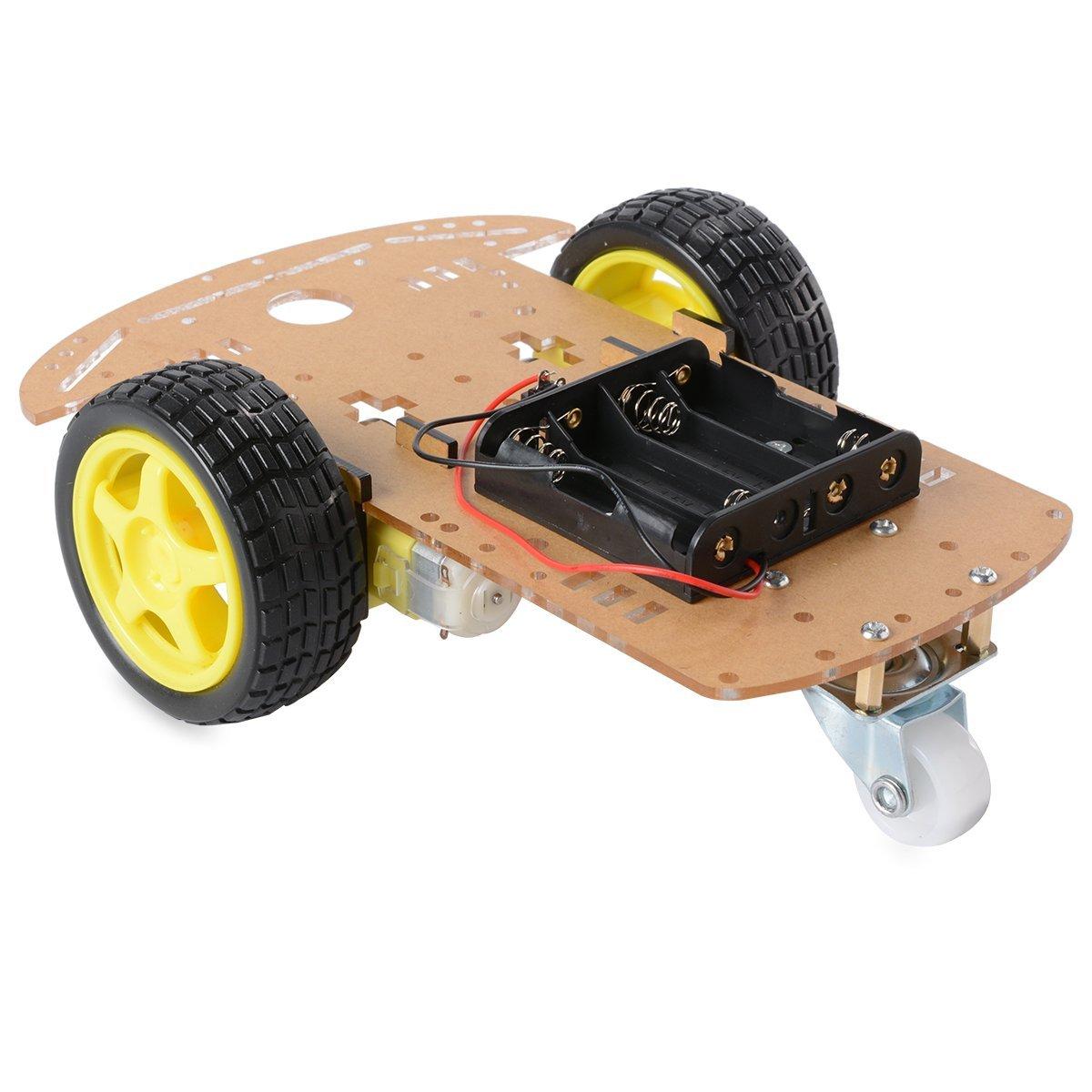 New smart motor robot car battery box chassis kit diy